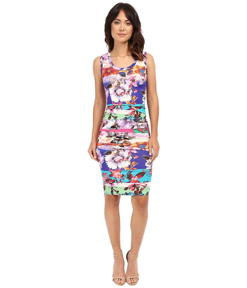 Nicole Miller - Garden Stripe Dakota Sleeveless Jersey Dress (Multi) Women's Dress