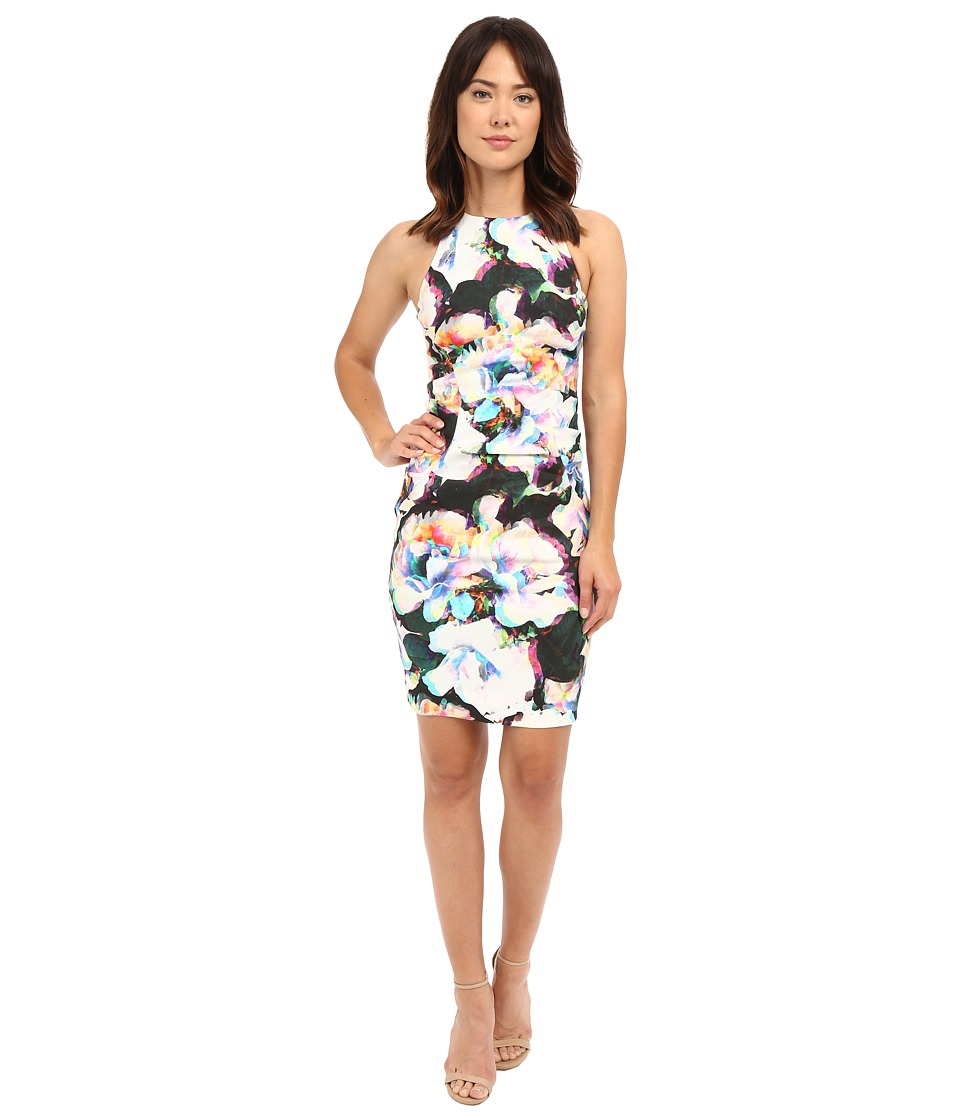 Nicole Miller Alix Layered Floral Linen Dress (Multi) Women