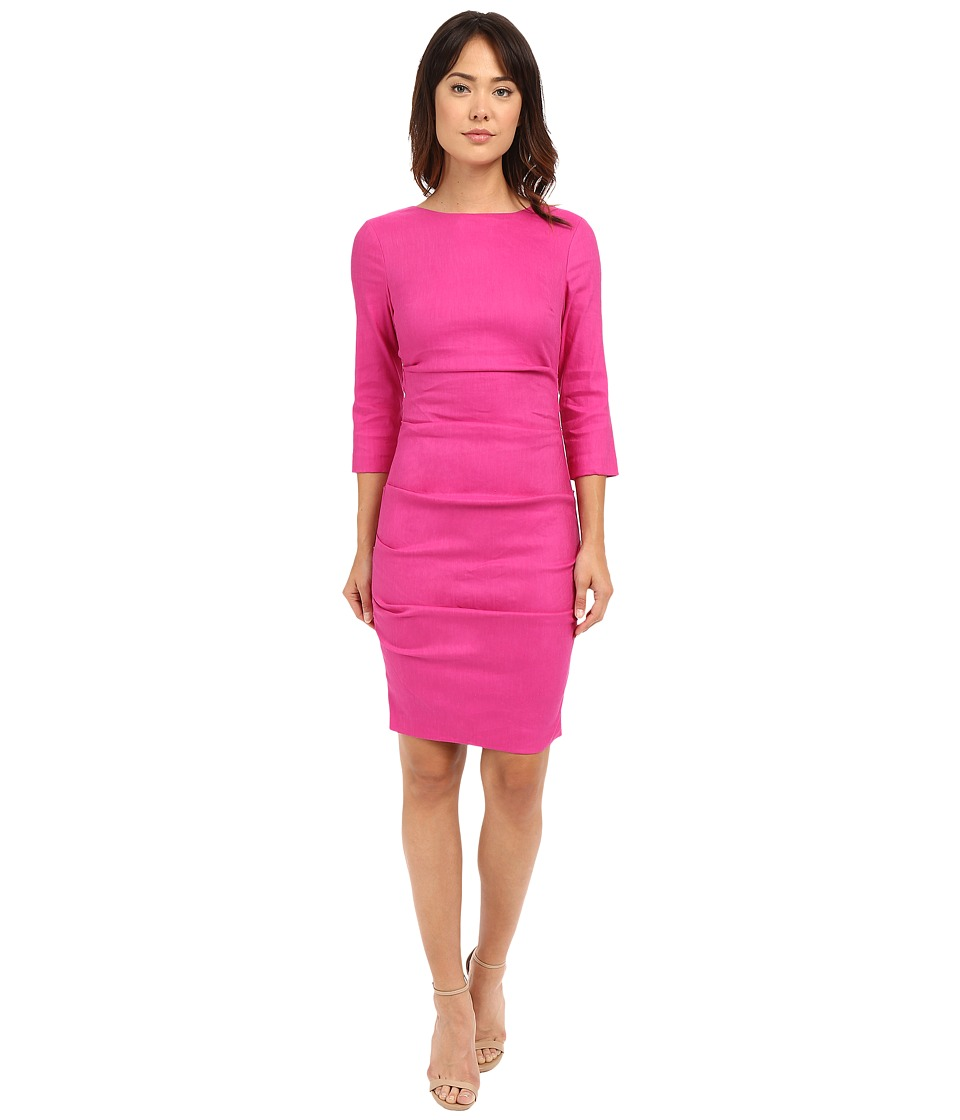 Nicole Miller - Christina Linen Dress (Very Berry) Women's Dress