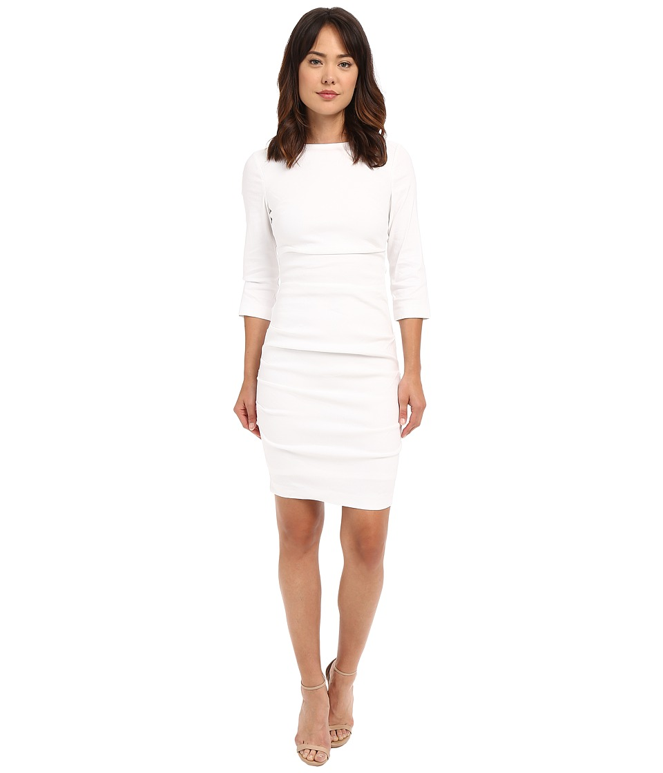 Nicole Miller - Christina Linen Dress (White) Women's Dress