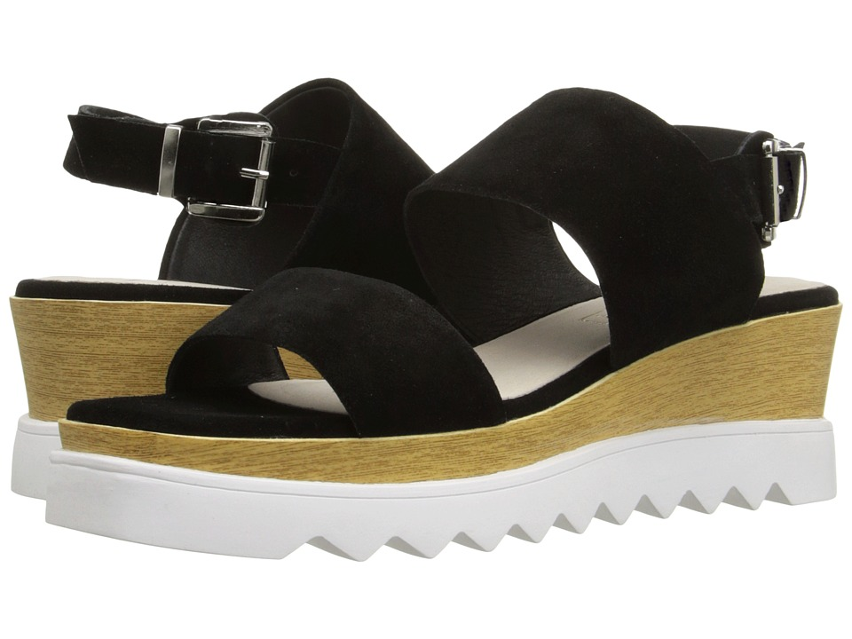 Sol Sana - Traci Wedge (Black Suede) Women's Wedge Shoes