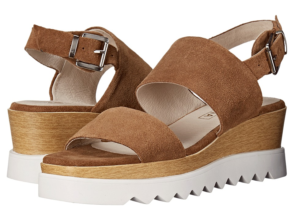 Sol Sana - Traci Wedge (Cognac Suede) Women's Wedge Shoes