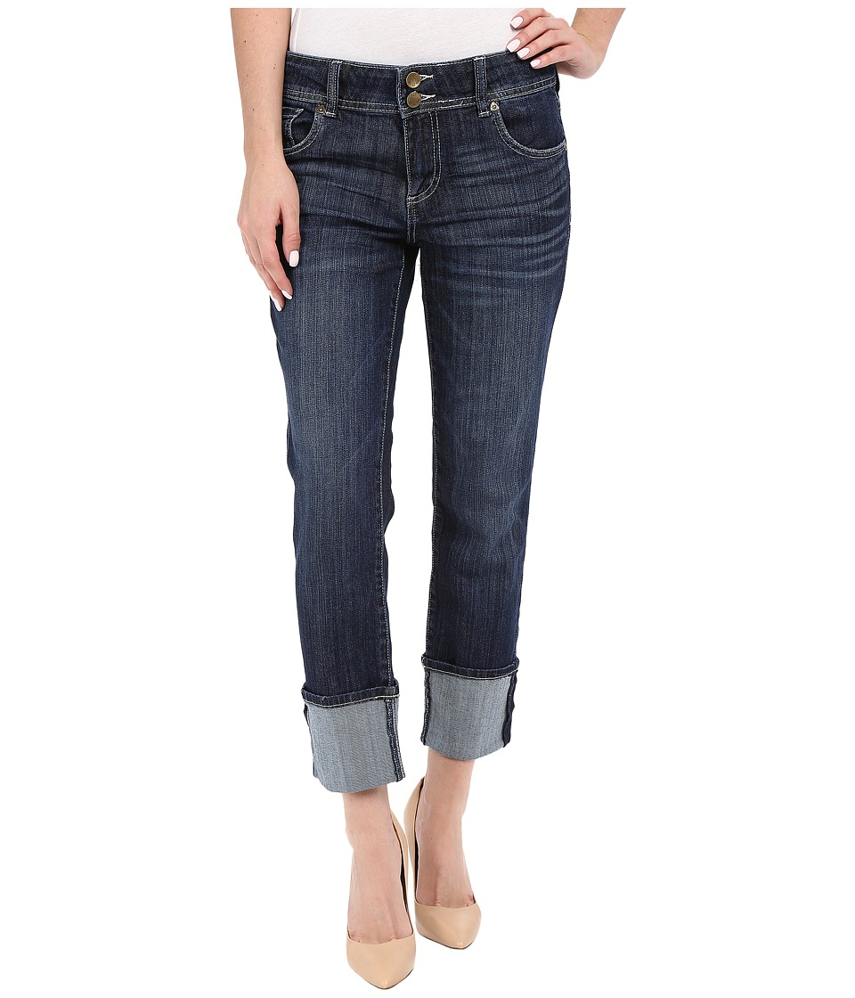 KUT from the Kloth - Cameron Straight Leg Wide Roll in Provide w/ Dark Stone (Provide/Dark Stone) Women's Jeans