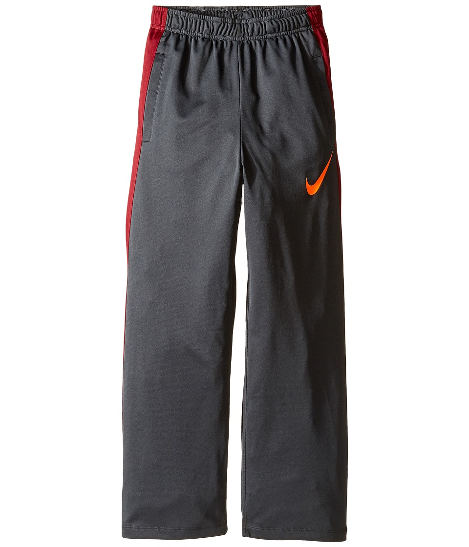 Nike Kids - Perf Knit Pants (Little Kids/Big Kids) (Anthracite/Team Red/Total Orange) Boy's Casual Pants
