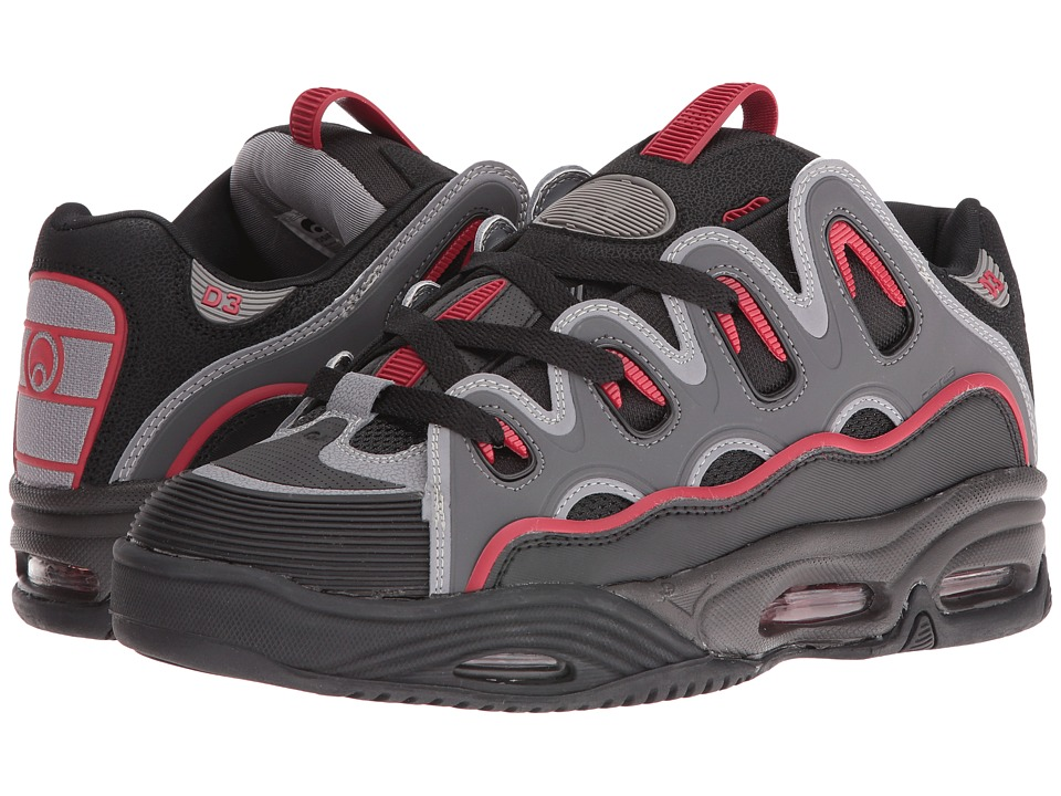 Osiris D3 2001 (Black/Red/Black) Men