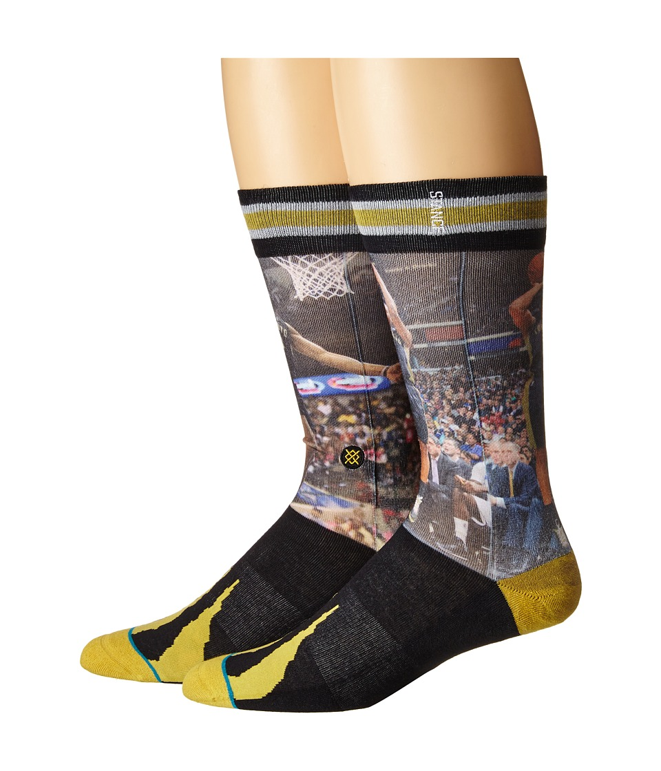 Stance - Derozan/Lowry (Gold) Men's Crew Cut Socks Shoes