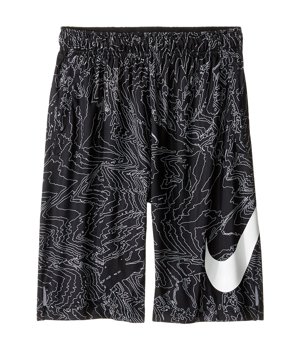 Nike Kids - Dry Training Short AOP6 (Little Kids/Big Kids) (Black/White/White) Boy's Shorts