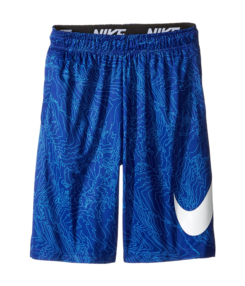 Nike Kids - Dry Training Short AOP6 (Little Kids/Big Kids) (Deep Royal Blue/White/White) Boy's Shorts