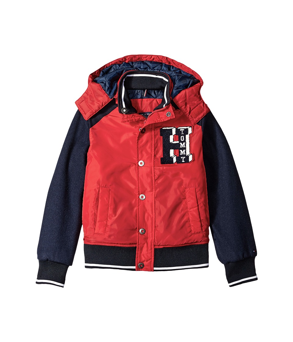 Tommy Hilfiger Kids - Carlton Bomber Jacket (Big Kids) (Bull's-eye Red) Boy's Coat