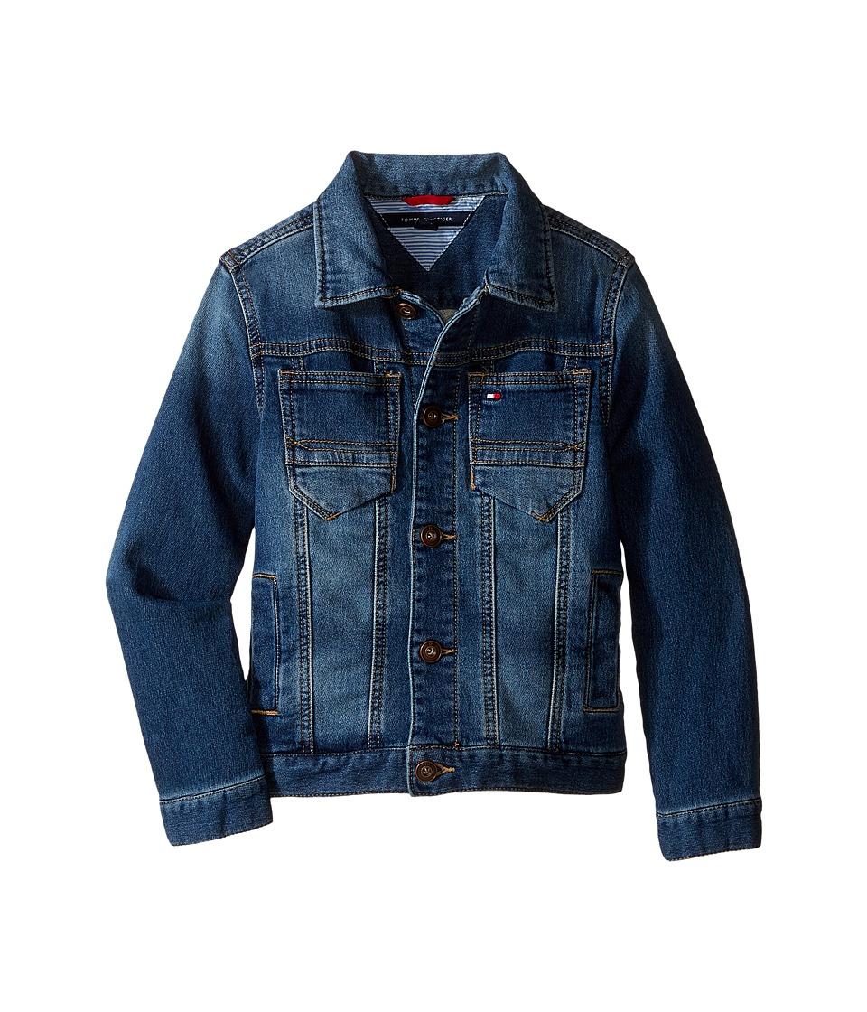 Tommy Hilfiger Kids - Dylan Knit Denim Jacket (Toddler/Little Kids) (Granite Wash) Boy's Coat