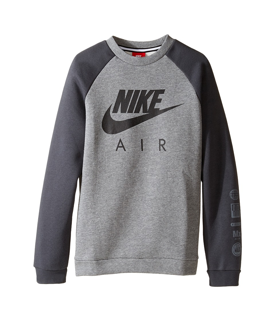 Nike Kids - Sportswear Crew (Little Kids/Big Kids) (Carbon Heather/Anthracite/Black) Boy's Clothing
