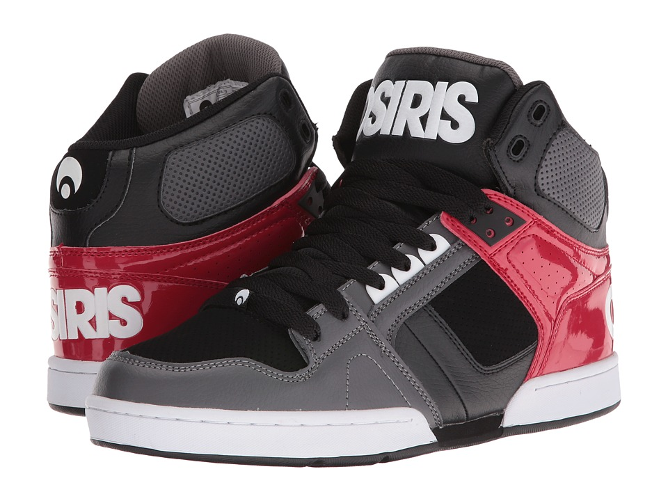 Osiris - NYC83 (Dark Grey/Red) Men's Skate Shoes