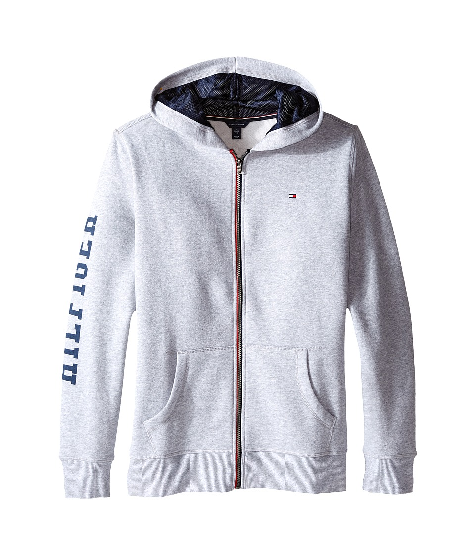 Tommy Hilfiger Kids - Long Sleeve Hilfiger Hoodie (Big Kids) (TH Grey Heather) Boy's Sweatshirt