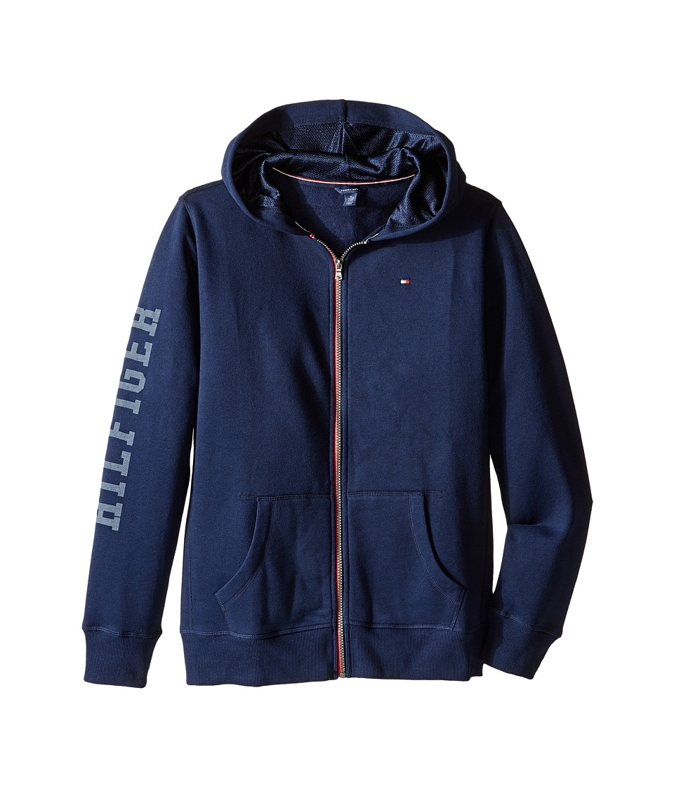 Tommy Hilfiger Kids - Long Sleeve Hilfiger Hoodie (Big Kids) (Swim Navy) Boy's Sweatshirt