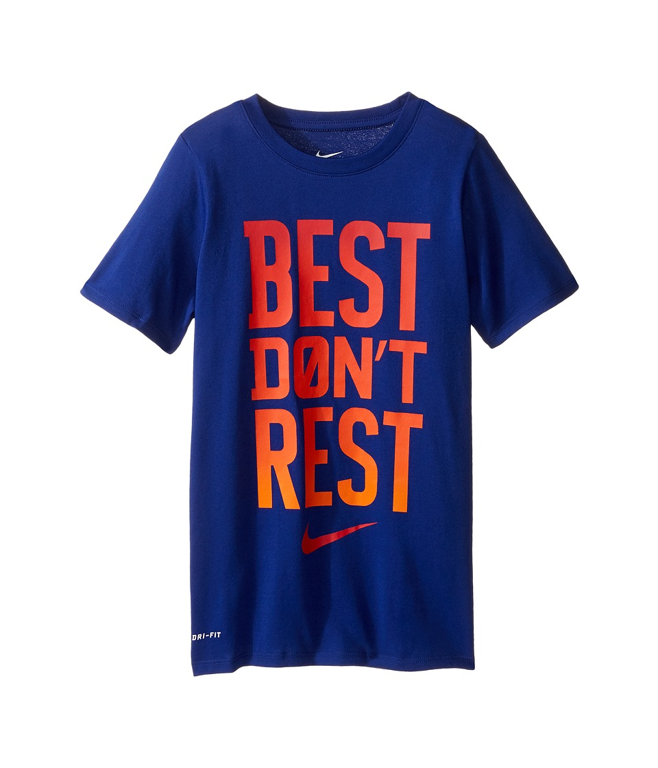 Nike Kids - DFCT Best Don't Rest Tee (Little Kids/Big Kids) (Deep Royal Blue) Boy's T Shirt