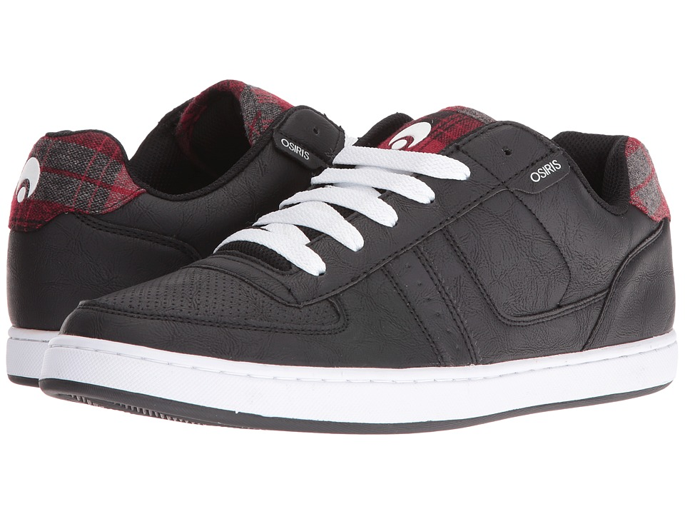 Osiris - Relic (Black/Plaid) Men's Skate Shoes