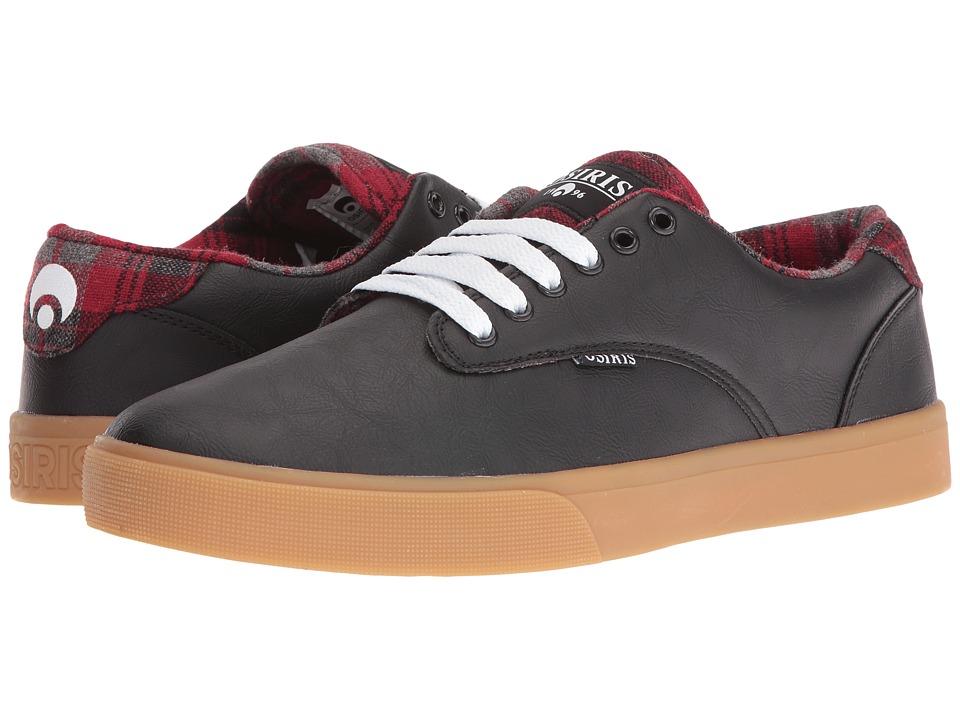 Osiris Slappy VLC (Black/Plaid) Men's Skate Shoes