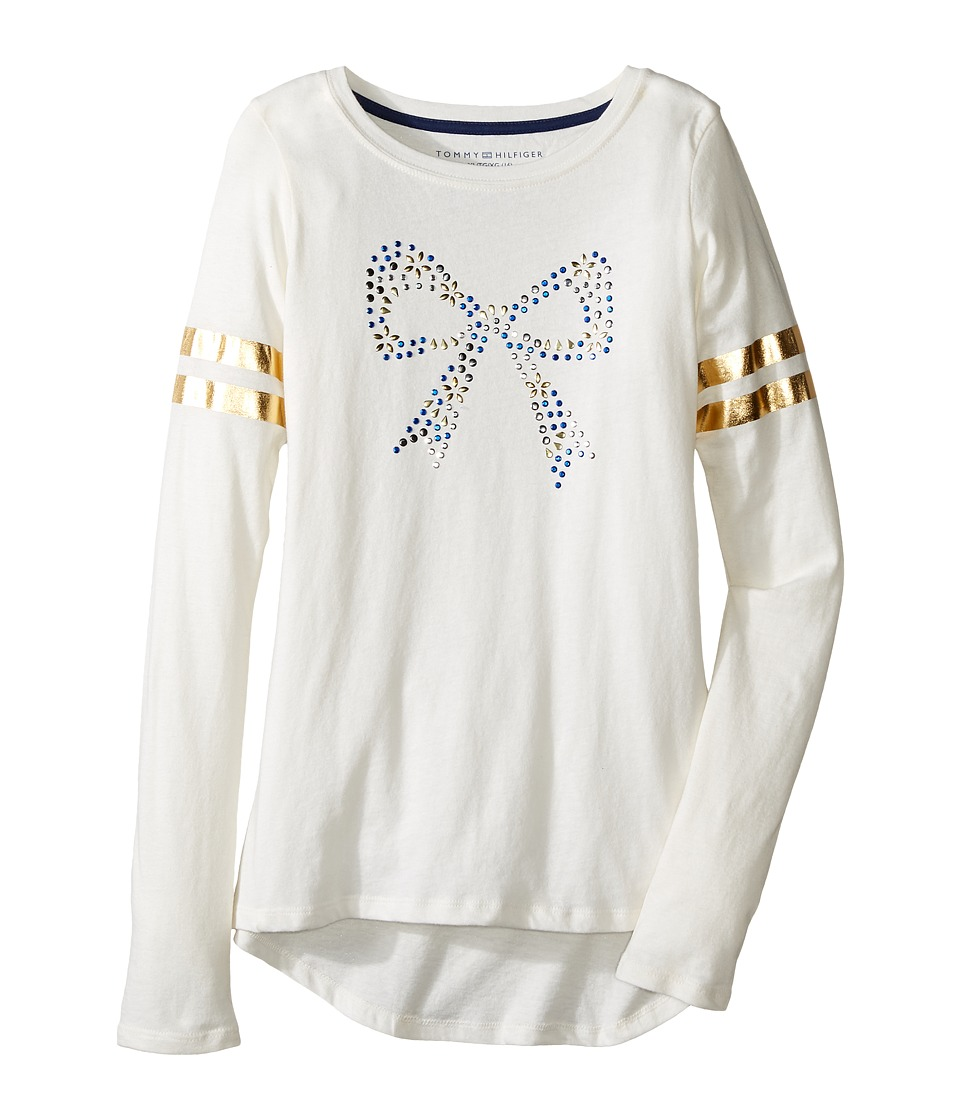 Tommy Hilfiger Kids - Long Sleeve Graphic Tee (Big Kids) (Whisper White) Girl's T Shirt