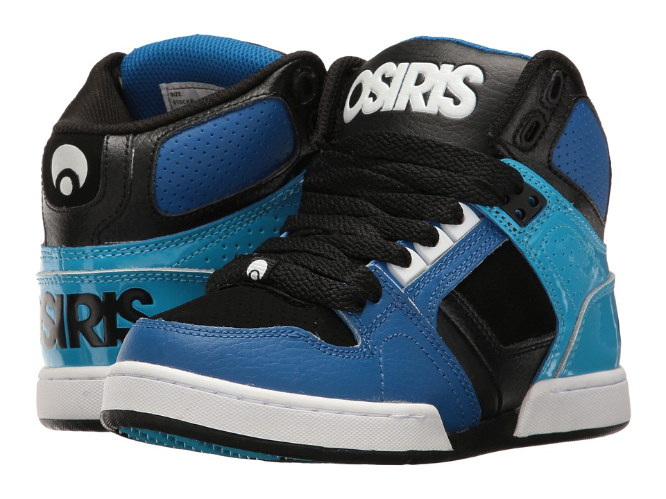 Osiris - NYC 83 (Little Kid/Big Kid) (Royal/Cyan) Men's Skate Shoes
