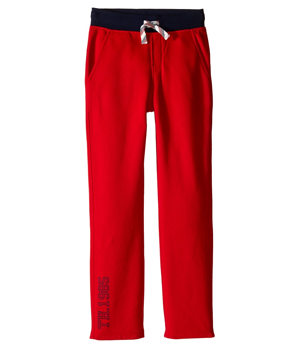 Tommy Hilfiger Kids - Basic 1985 Open Hem Sweatpants (Big Kids) (Apple Red) Boy's Casual Pants