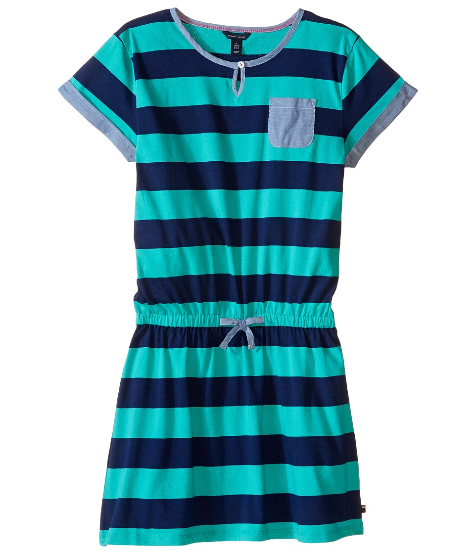 Tommy Hilfiger Kids - Rugby Dress (Big Kids) (Pool Green) Girl's Dress