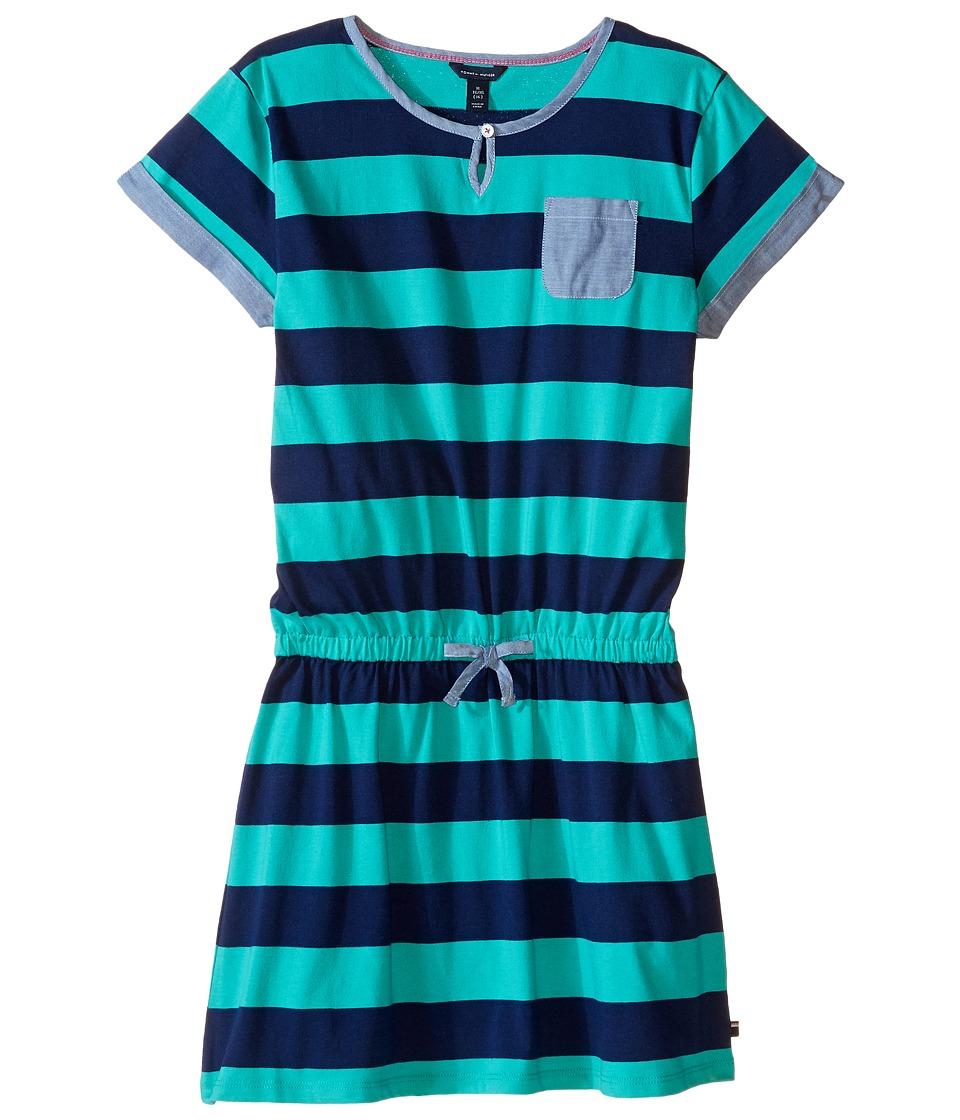 Tommy Hilfiger Kids - Rugby Dress (Big Kids) (Pool Green) Girl's Dress