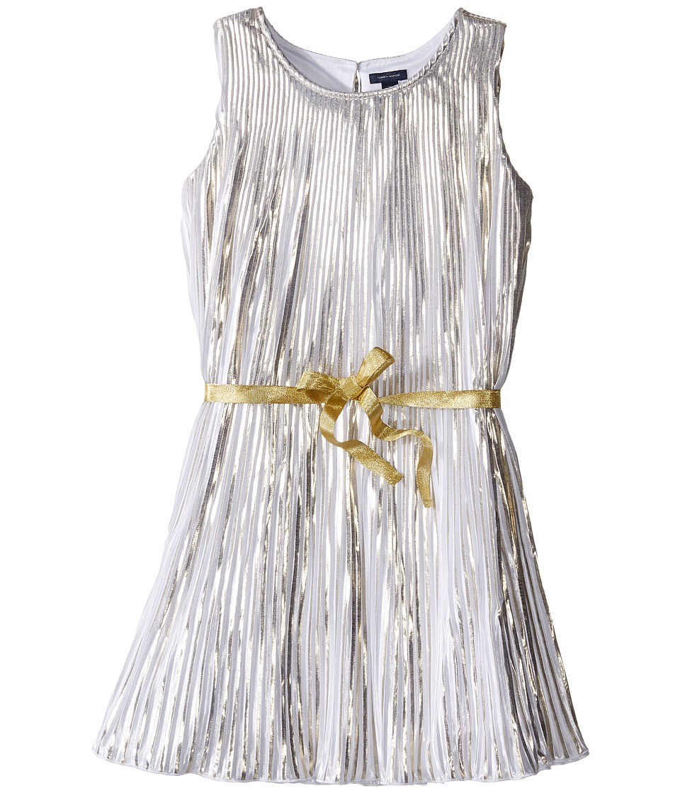 Tommy Hilfiger Kids - Metallic Dress (Big Kids) (Gold) Girl's Dress