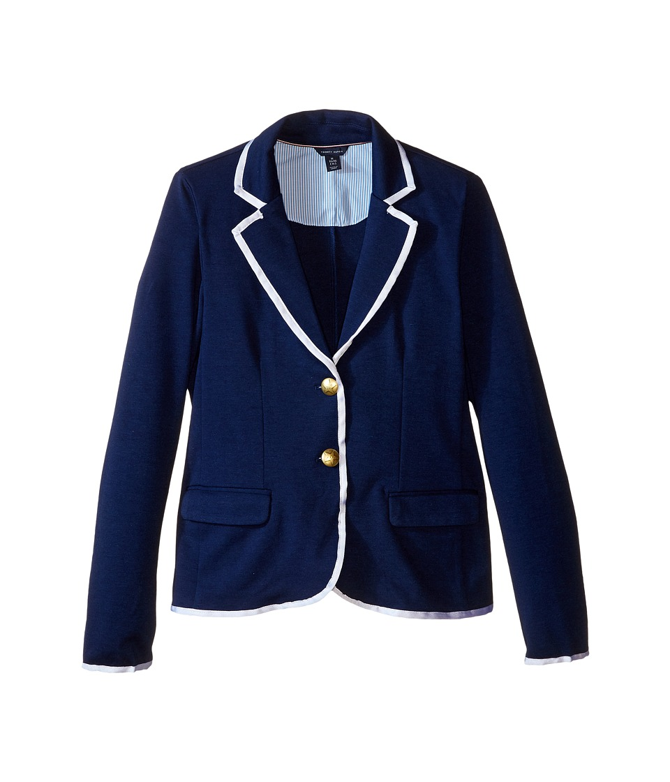 Tommy Hilfiger Kids - Ponte Blazer (Big Kids) (Medium Navy) Girl's Jacket