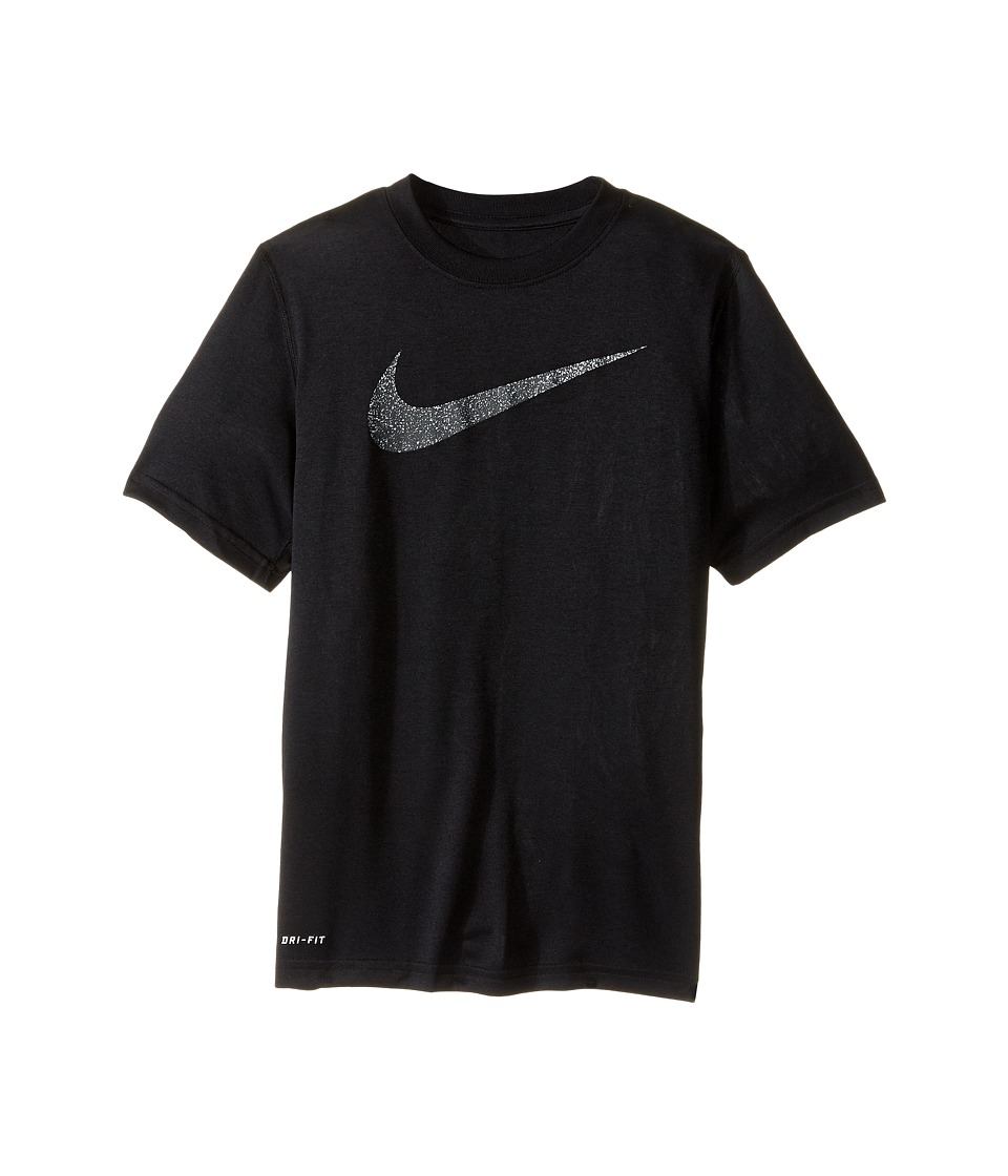Nike Kids - Legend Static Tee (Little Kids/Big Kids) (Black) Boy's T Shirt