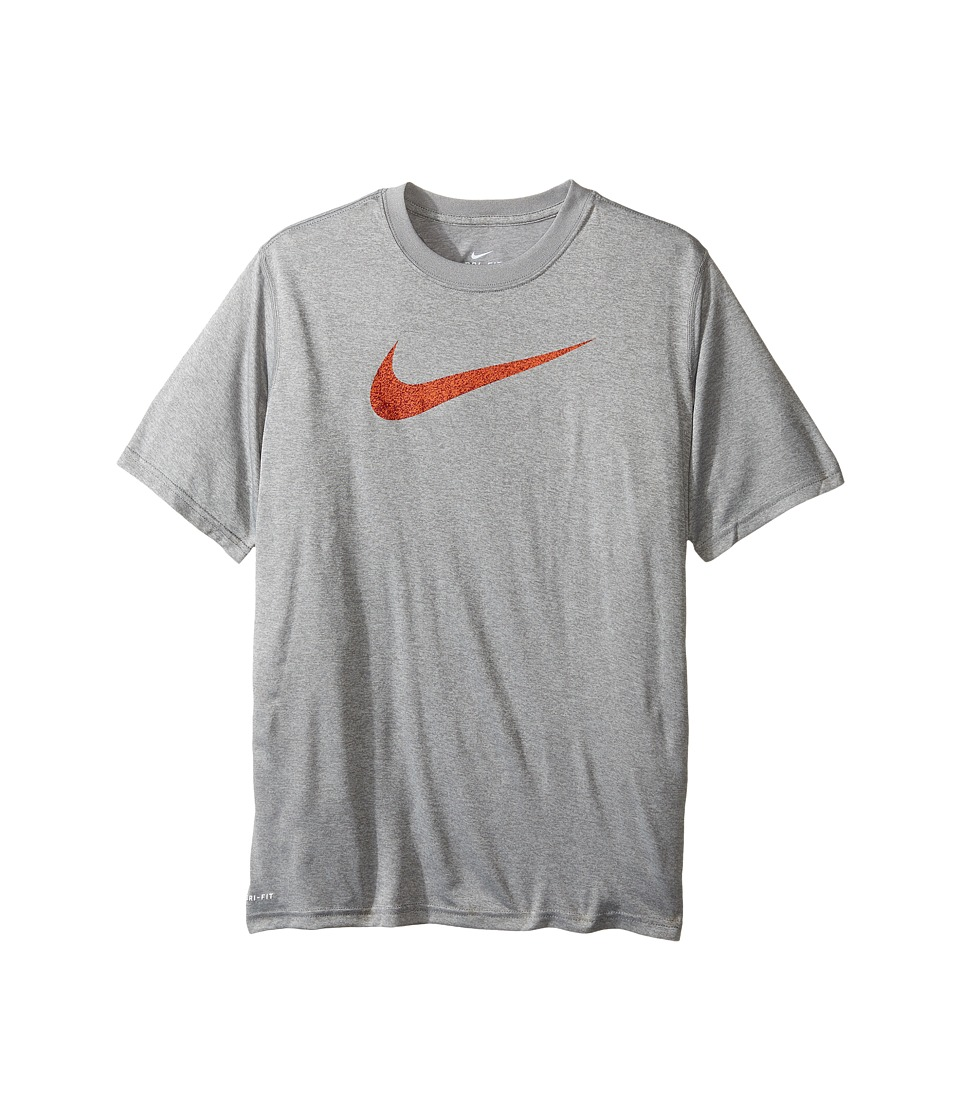 Nike Kids - Legend Static Tee (Little Kids/Big Kids) (Dark Grey Heather) Boy's T Shirt