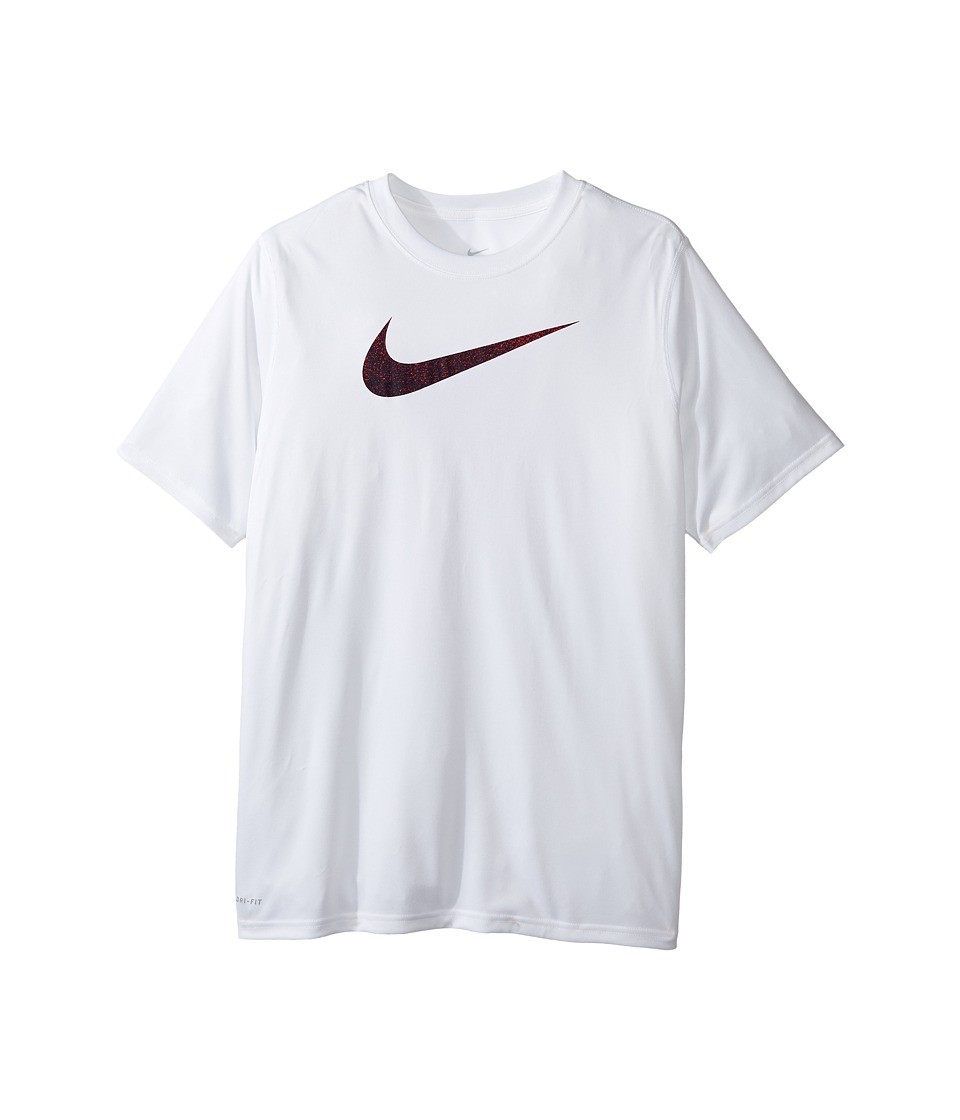 Nike Kids - Legend Static Tee (Little Kids/Big Kids) (White) Boy's T Shirt