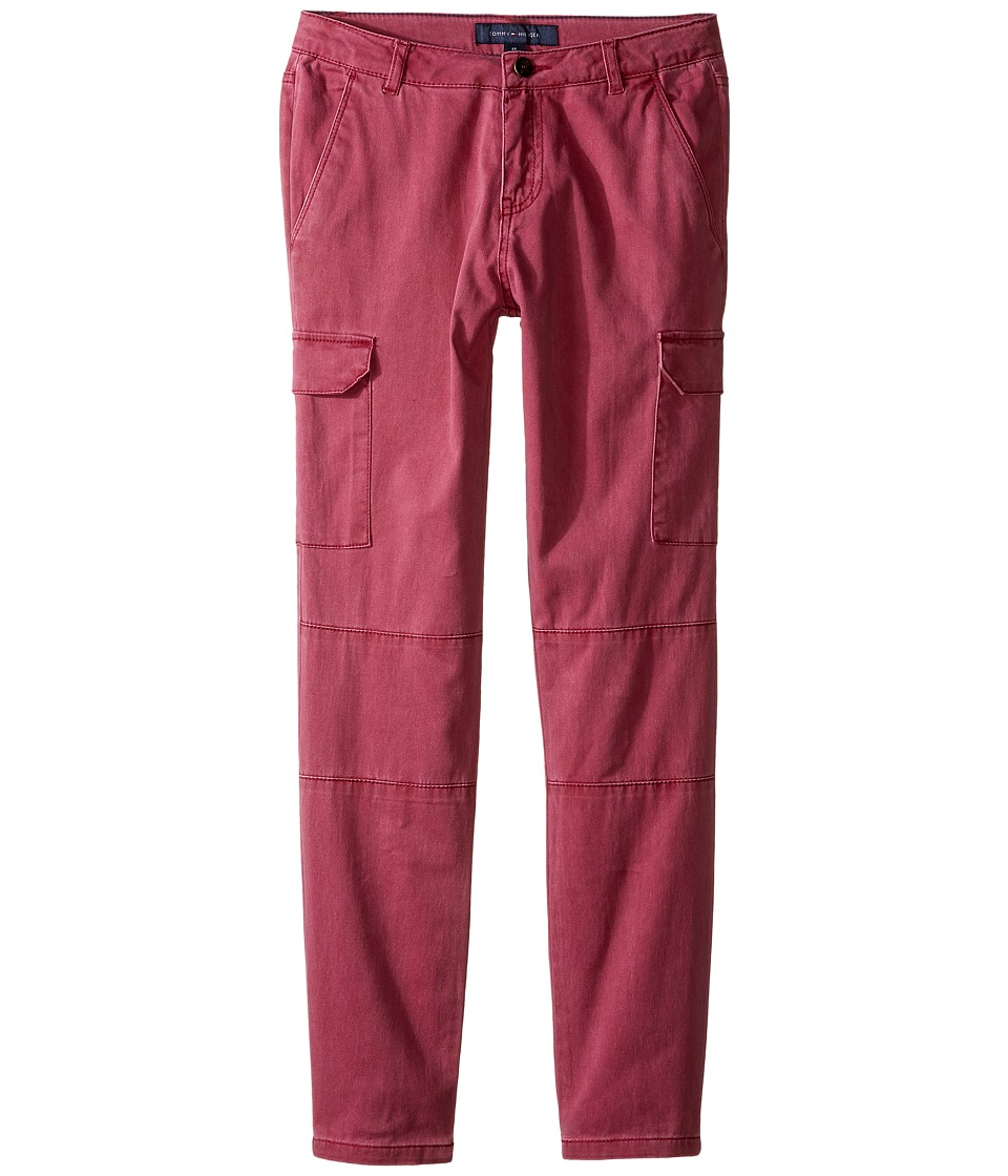 Tommy Hilfiger Kids - Stretch Sateen Cargo Pants (Little Kids/Big Kids) (Red Berry) Girl's Casual Pants