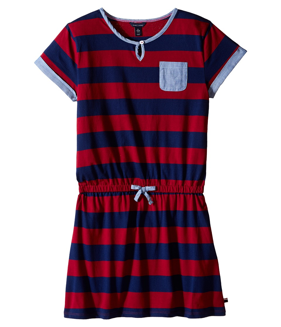 Tommy Hilfiger Kids - Rugby Dress (Big Kids) (Red Berry) Girl's Dress