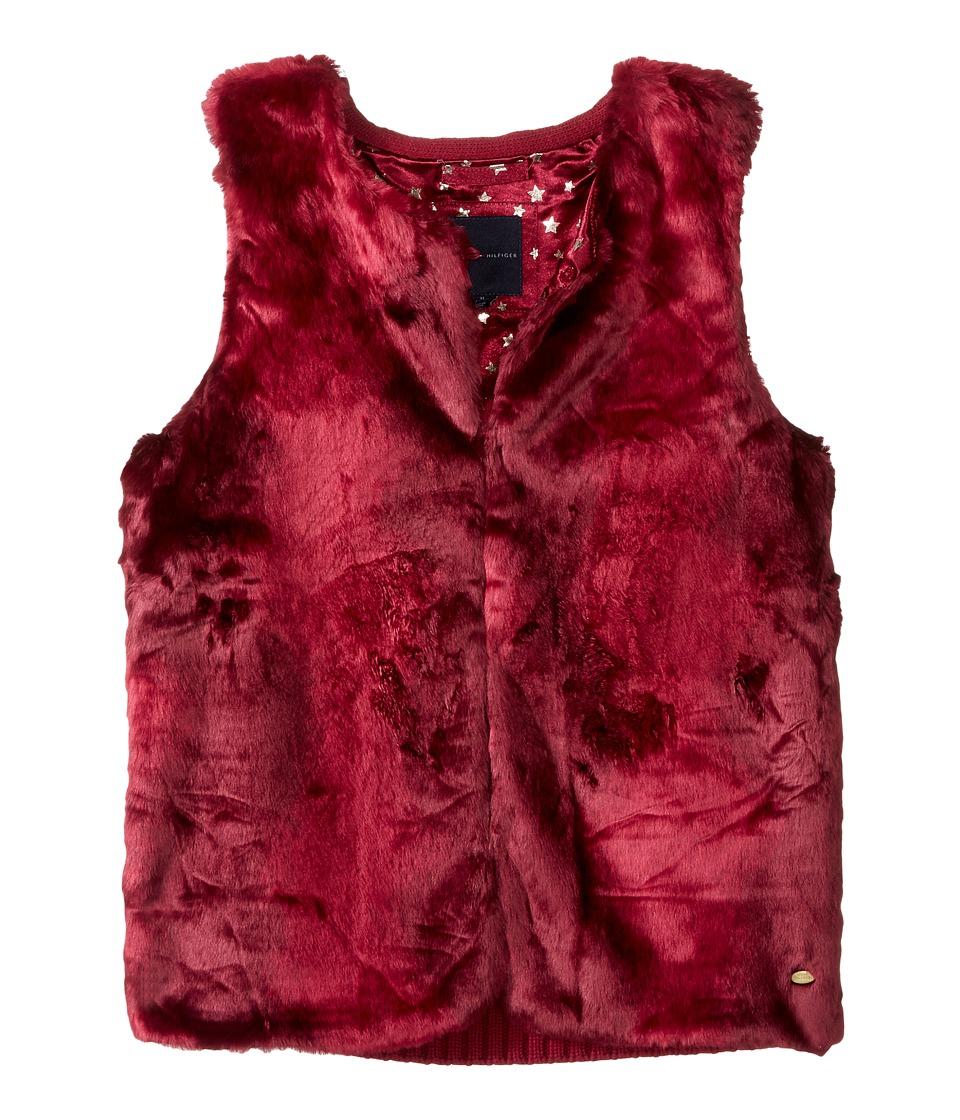 Tommy Hilfiger Kids - Fur Vest (Big Kids) (Red Berry) Girl's Vest