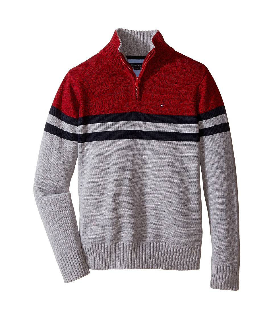 Tommy Hilfiger Kids - Connor 1/2 Zip Sweater (Toddler/Little Kids) (Grey Heather) Boy's Sweater