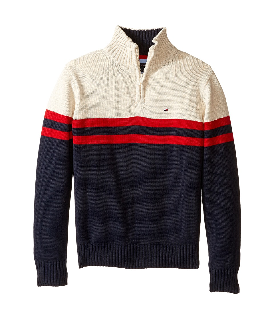 Tommy Hilfiger Kids - Connor 1/2 Zip Sweater (Toddler/Little Kids) (Swim Navy) Boy's Sweater