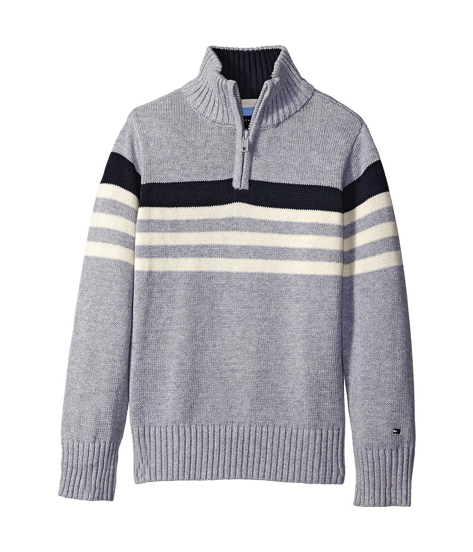 Tommy Hilfiger Kids - Peter 1/2 Zip Sweater (Toddler/Little Kids) (Grey Heather) Boy's Sweater