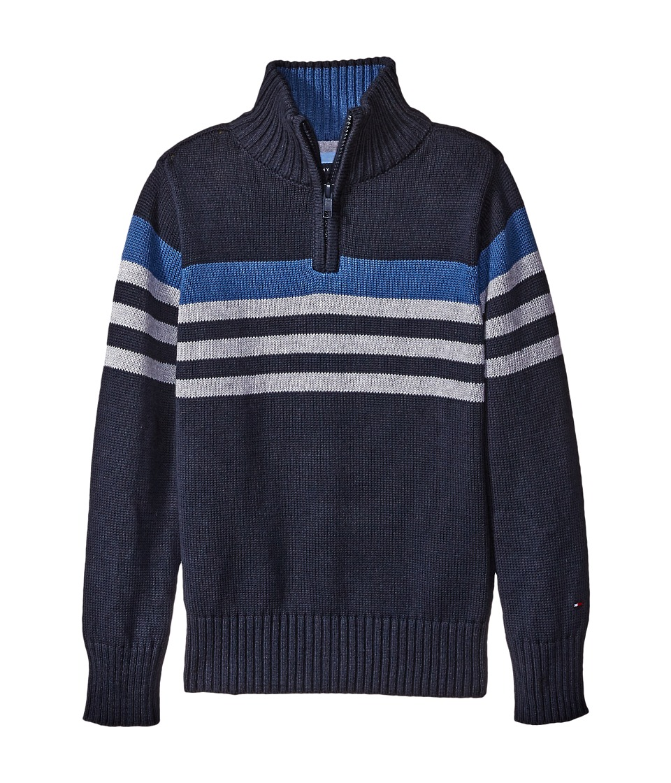 Tommy Hilfiger Kids - Peter 1/2 Zip Sweater (Toddler/Little Kids) (Swim Navy) Boy's Sweater