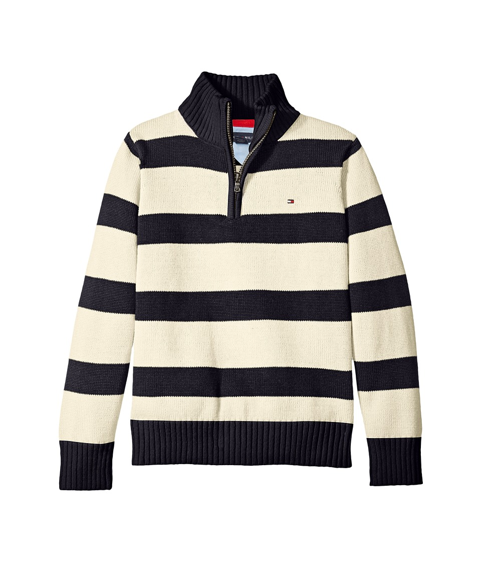 Tommy Hilfiger Kids - George Stripe Sweater (Toddler/Little Kids) (Essex Ivory) Boy's Sweater