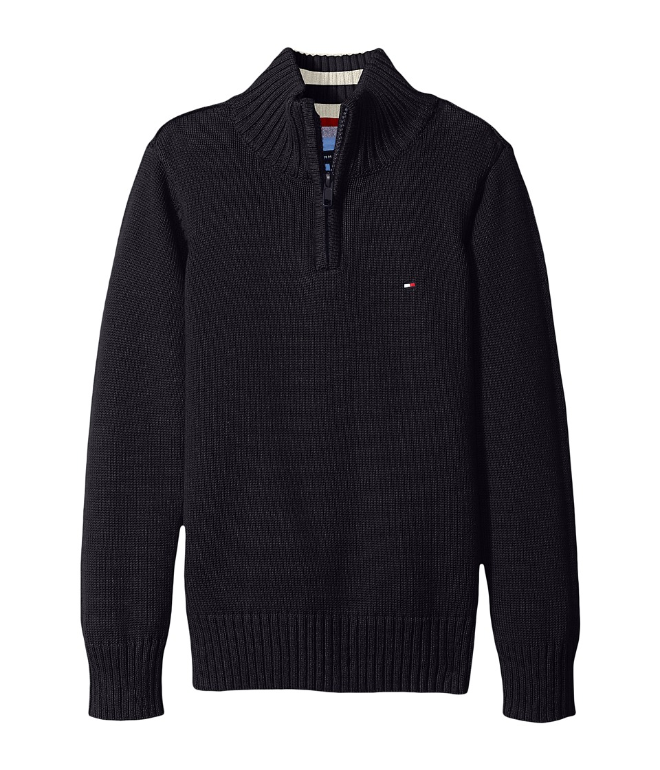 Tommy Hilfiger Kids - Edward 1/2 Zip with Rib Stitch Sweater (Toddler/Little Kids) (Swim Navy) Boy's Sweater