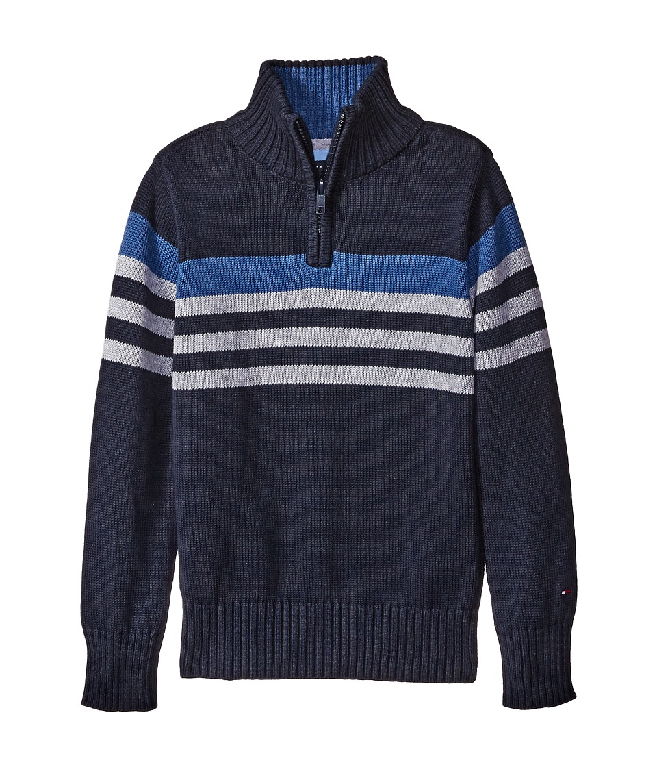 Tommy Hilfiger Kids - Peter 1/2 Zip Sweater (Big Kids) (Swim Navy) Boy's Sweater