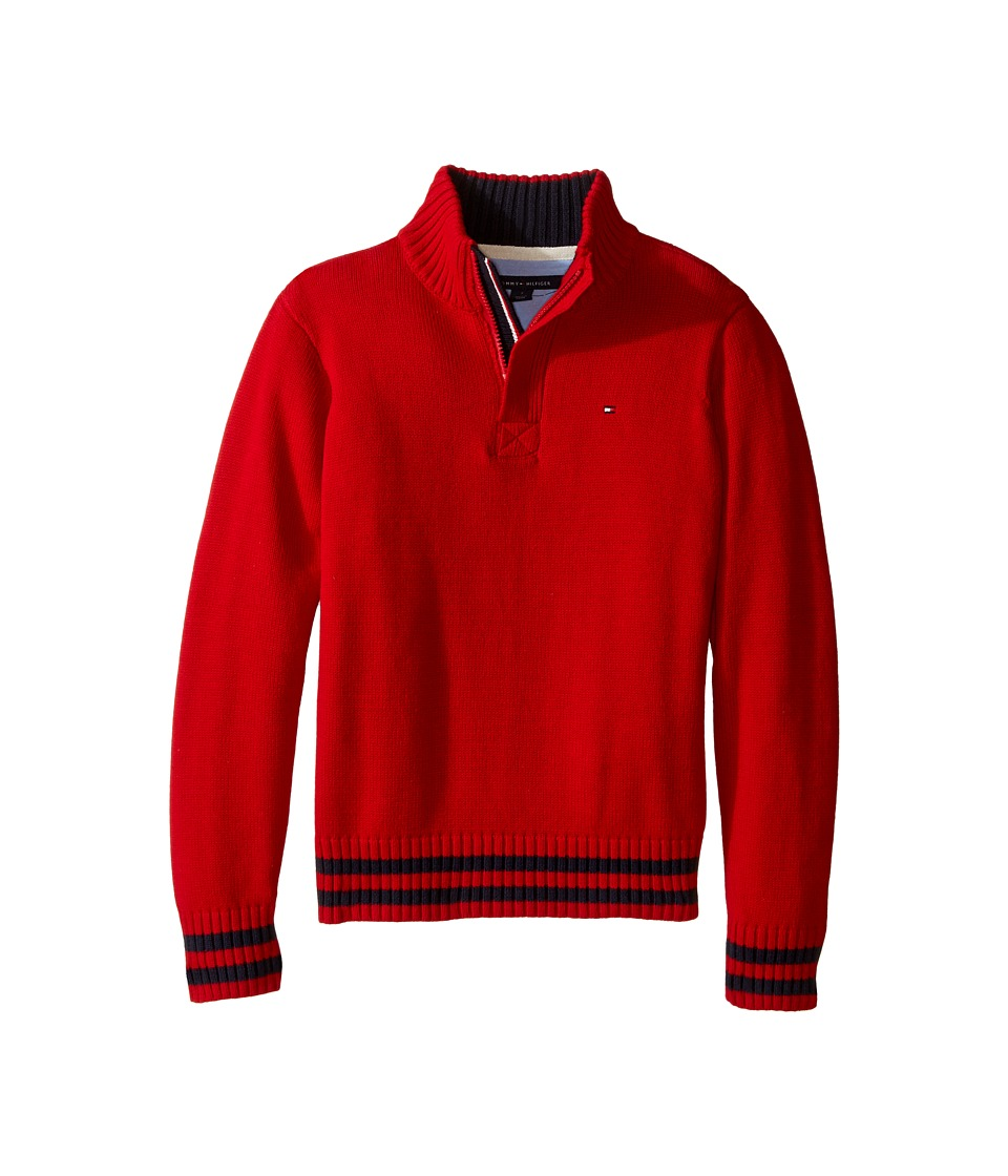 Tommy Hilfiger Kids - Robert Marled 1/2 Zip Sweater (Toddler/Little Kids) (Bull's-eye Red) Boy's Sweater