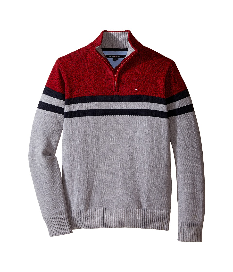 Tommy Hilfiger Kids - Connor 1/2 Zip Sweater (Big Kids) (Grey Heather) Boy's Sweater
