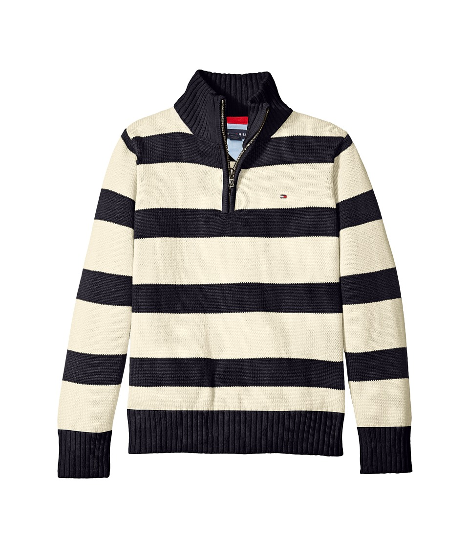 Tommy Hilfiger Kids - George Stripe Sweater (Big Kids) (Essex Ivory) Boy's Sweater