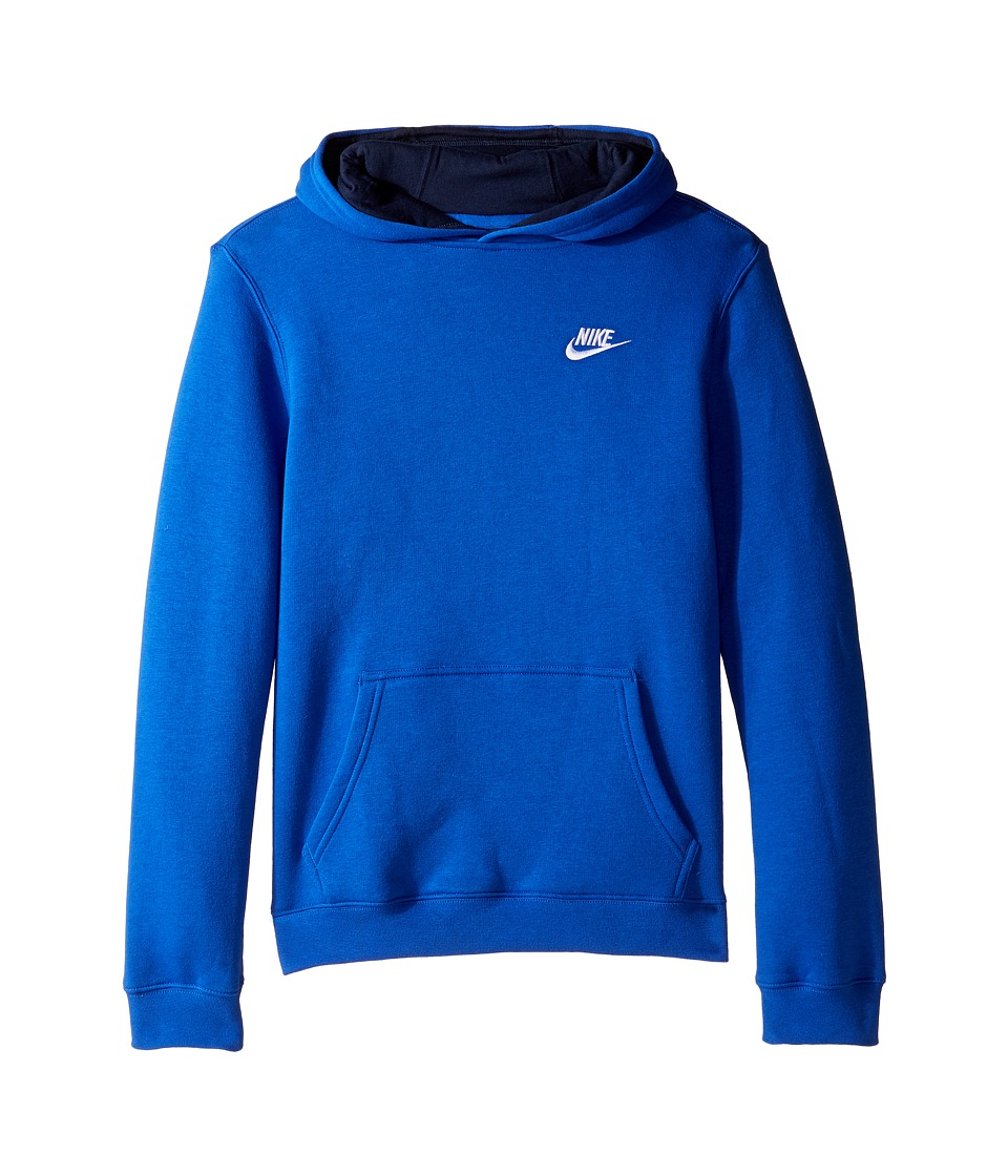 Nike Kids - Sportswear Pullover Hoodie (Little Kids/Big Kids) (Game Royal/Obsidian/White) Boy's Sweatshirt