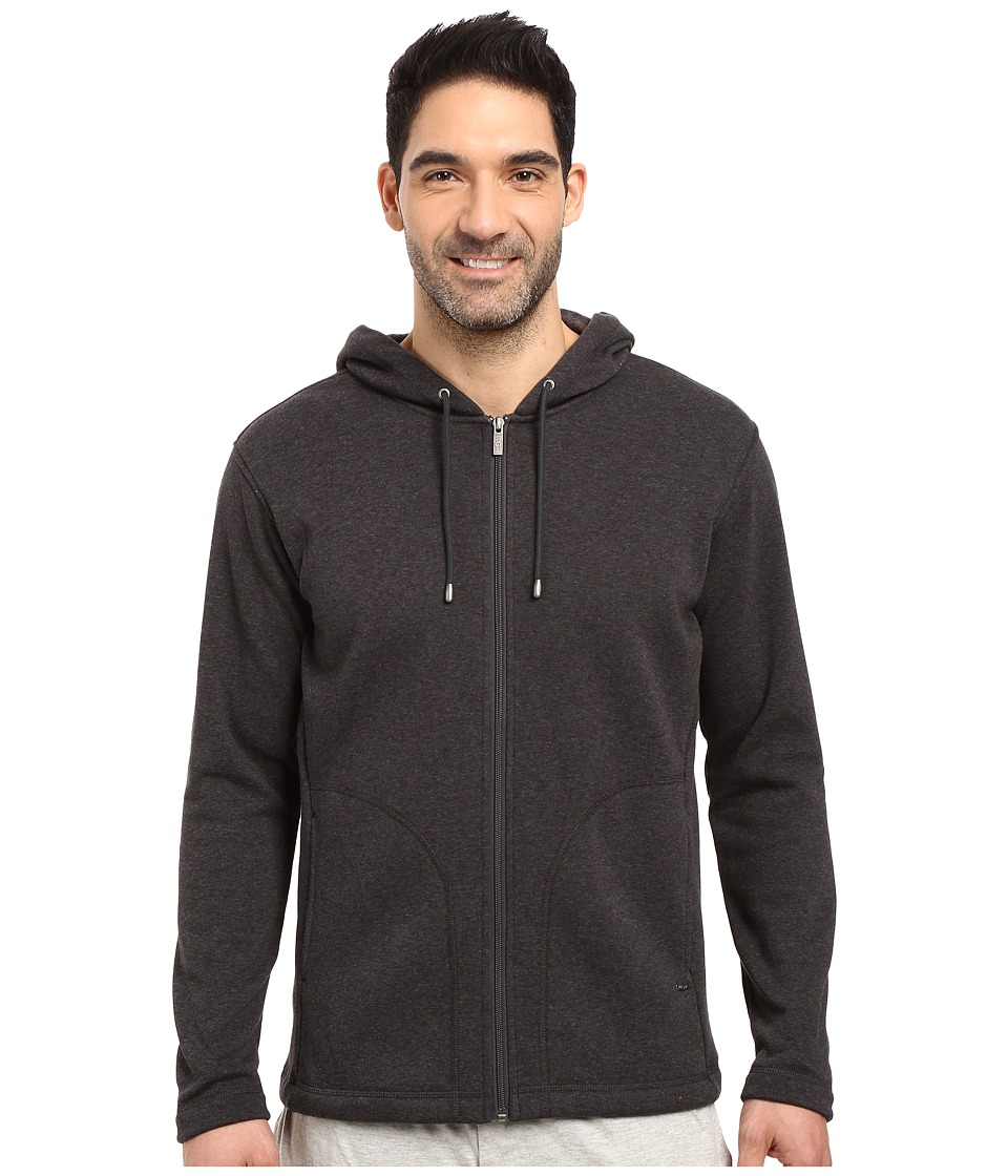 UGG - Bownes Hoodie (Black Bear Heather) Men's Clothing