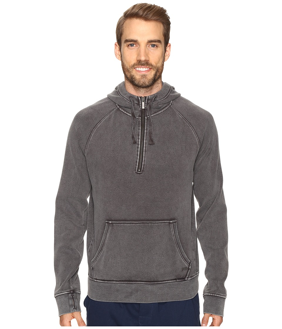 UGG - Cooper Washed Pullover Hoodie (Black) Men's Sweatshirt