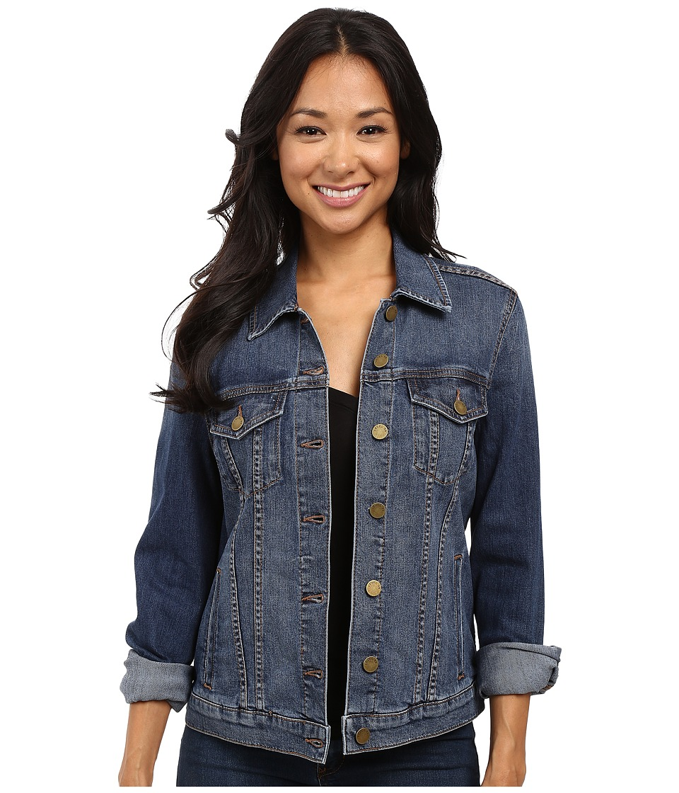 Level 99 - Ivy Classic Denim Jacket (Park) Women's Coat