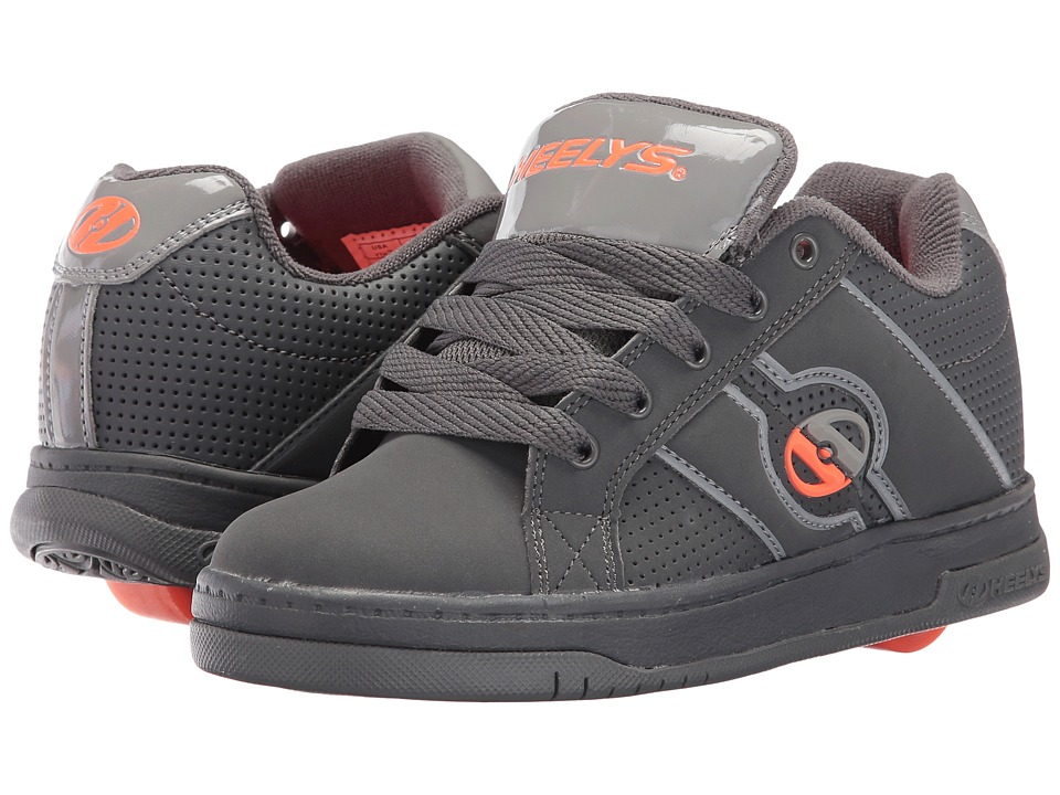 Heelys - Split (Little Kid/Big Kid/Men's) (Dark Grey/Light Grey/Orange) Boys Shoes