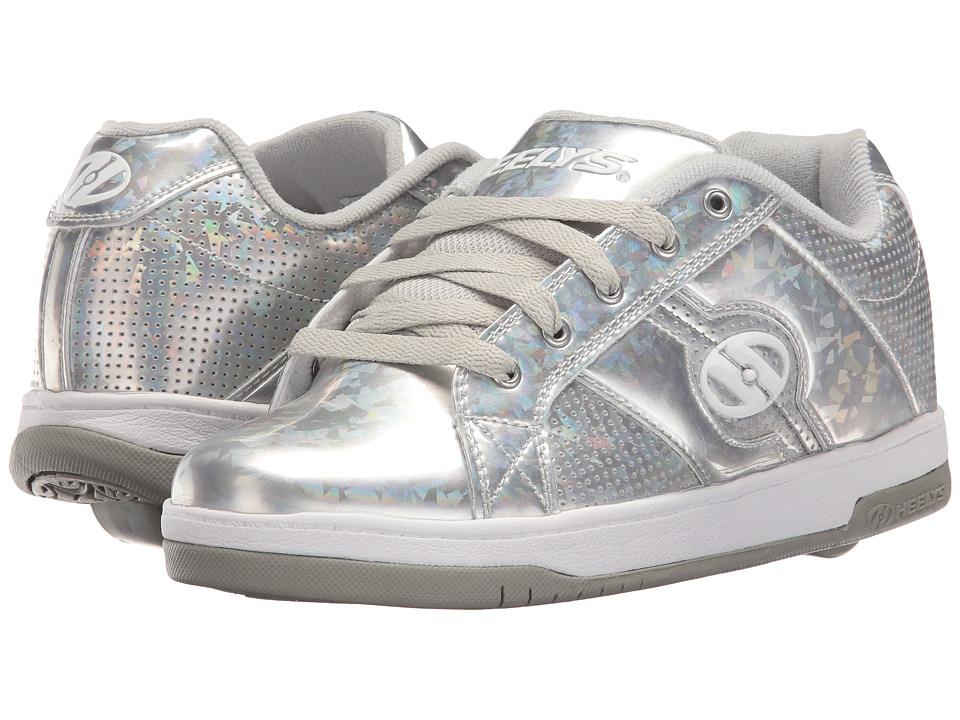 Heelys Split (Little Kid/Big Kid/Adult) (Silver/Hologram) Girls Shoes